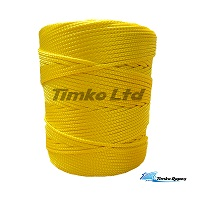 3mm Yellow Braided Nylon Cord x 180m